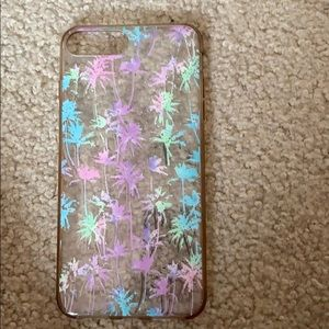 Hard silicone case with palm tree design